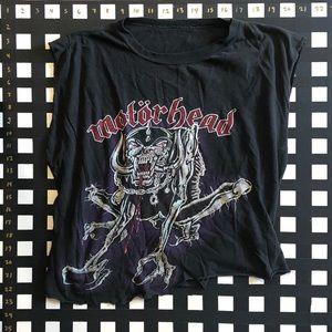 Vintage Cropped // Shredded MOTÖRHEAD T-Shirt